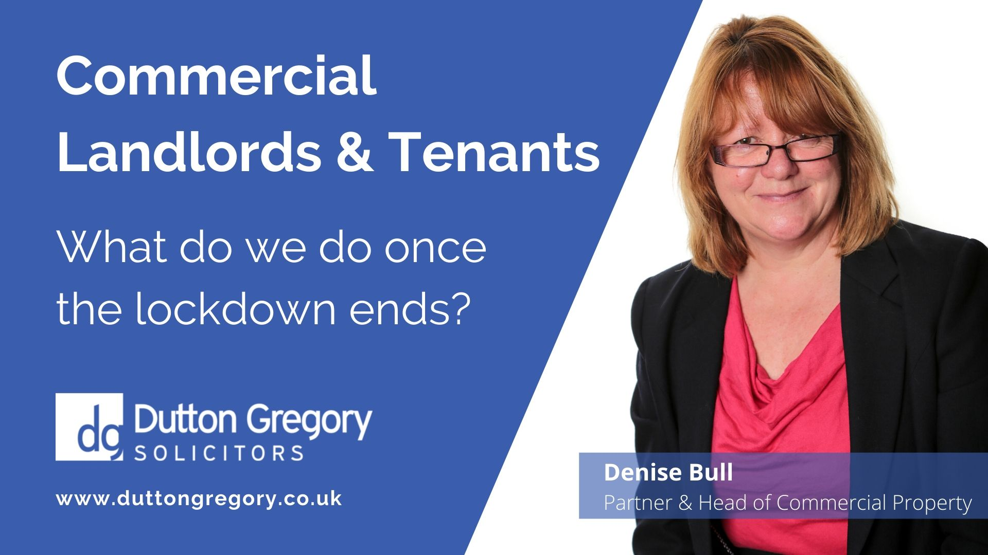 Commercial landlords and tenants: what do we do once the lockdown ends?