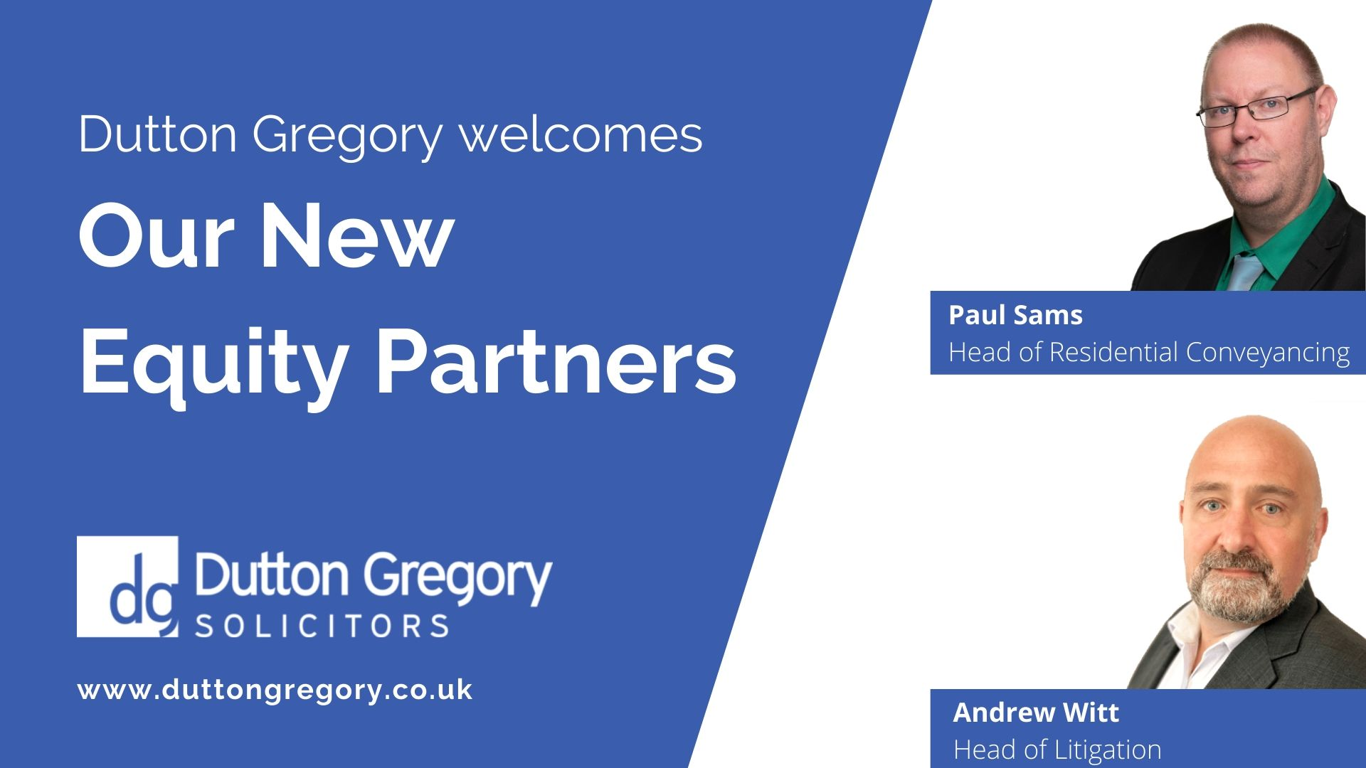 Dutton Gregory welcomes two new Equity Partners