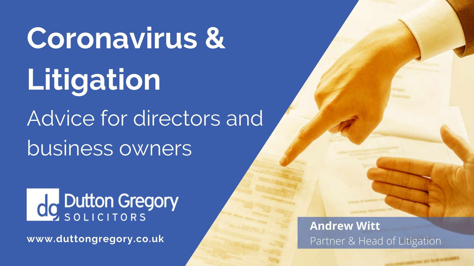 Commercial Litigation Update: advice for directors and business owners during coronavirus
